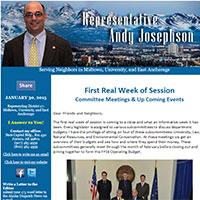 Rep. Josephson's Newsletter