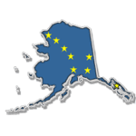 AK State and Flag