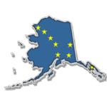 Alaska State and Flag