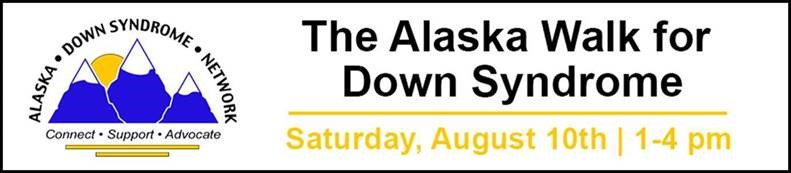 The Alaska Walk for Down Syndrome is happening at the Delaney Parkstrip at 10th & P St on August 10th. Come support our friends with Down Syndrome and their families. Free  fun for the kids, awesome raffle prizes and more! Register now at: https://www.ds-stride.org/alaskawalkfords