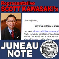Rep. Kawasaki's September 12th Newsletter: Sept 20 Constituent Town Hall in Fairbanks