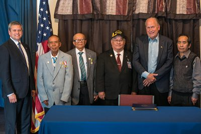 Governor Walker Signs Legislation Honoring Veterans Who Have Earned Medals for Valor in Combat