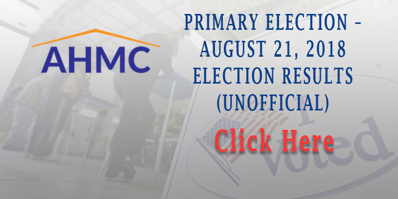 PRIMARY ELECTION – AUGUST 21, 2018 ELECTION RESULTS (UNOFFICIAL)
