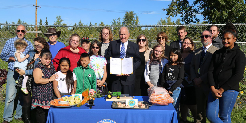 """NEWS: """"Alaska Grown"""" Bill Signing Wednesday at a Community Farm in Mountain View"""