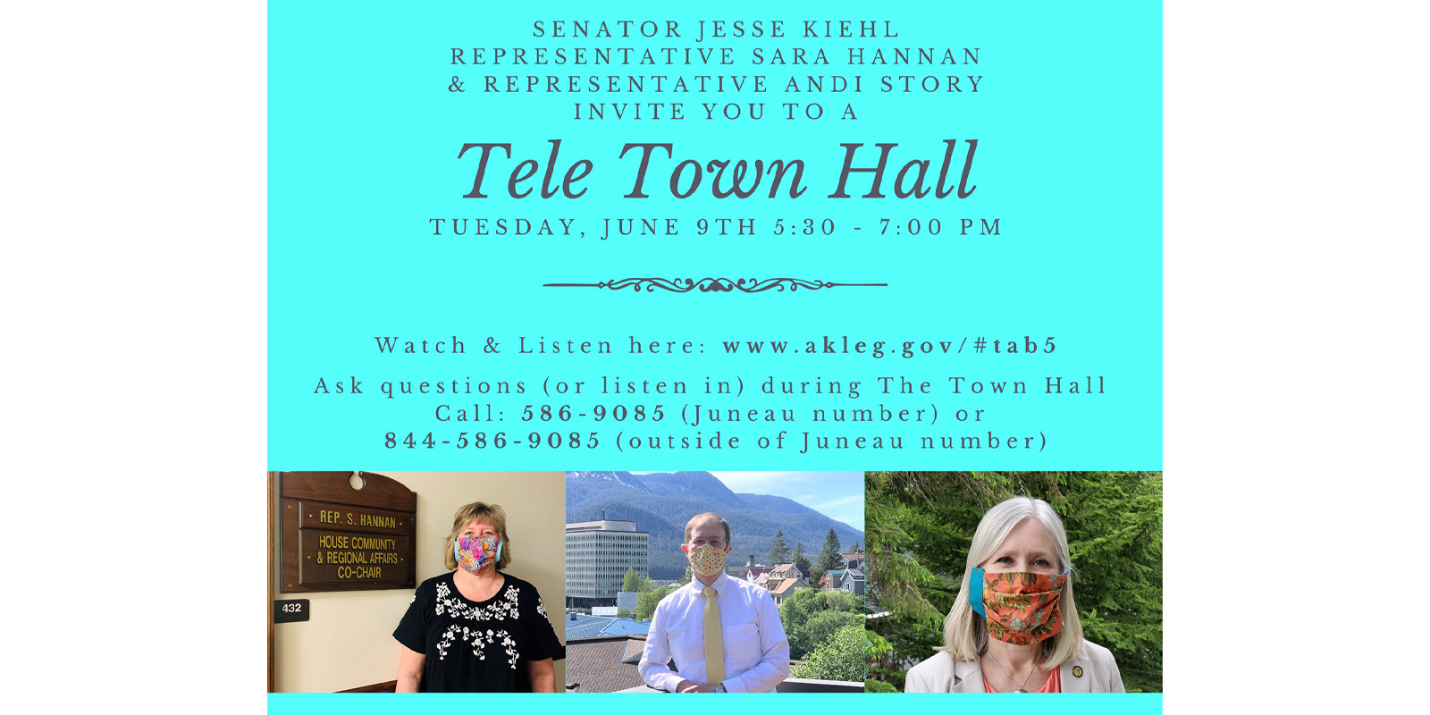 Tele Town HallTuesday June 9th 5:30-7:00PM
